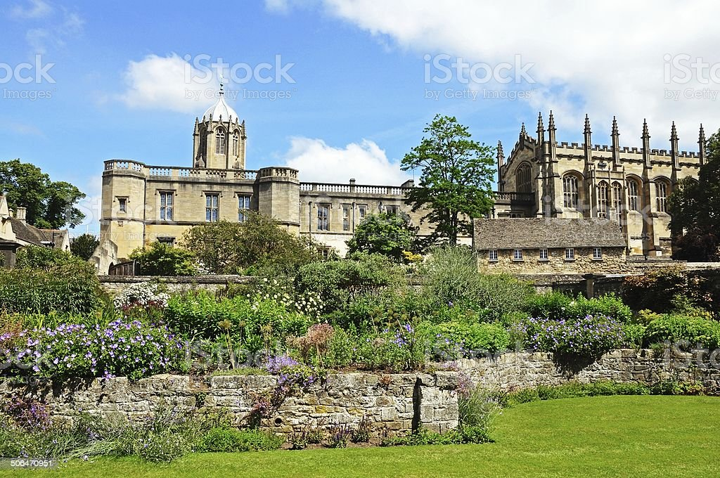 Christ Church Cathedral and College, Oxford. stock photo