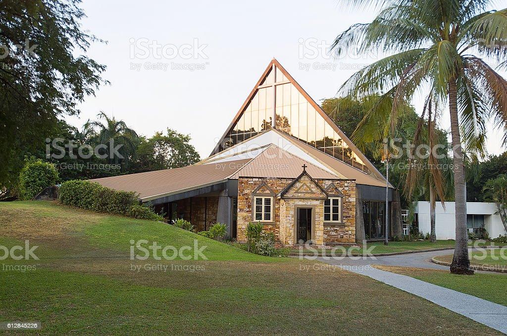 Christ Church Cathedral Darwin stock photo
