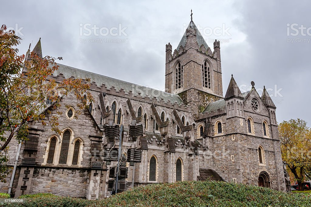 Christ Church Cathedral. Dublin, Ireland stock photo
