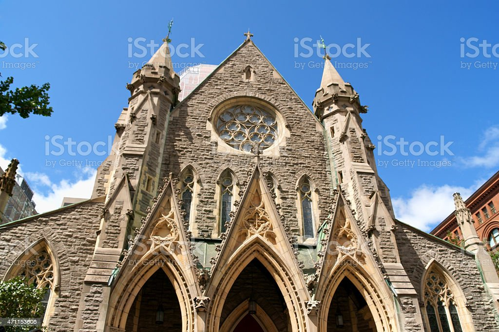 Christ Church Cathedral in Montreal stock photo