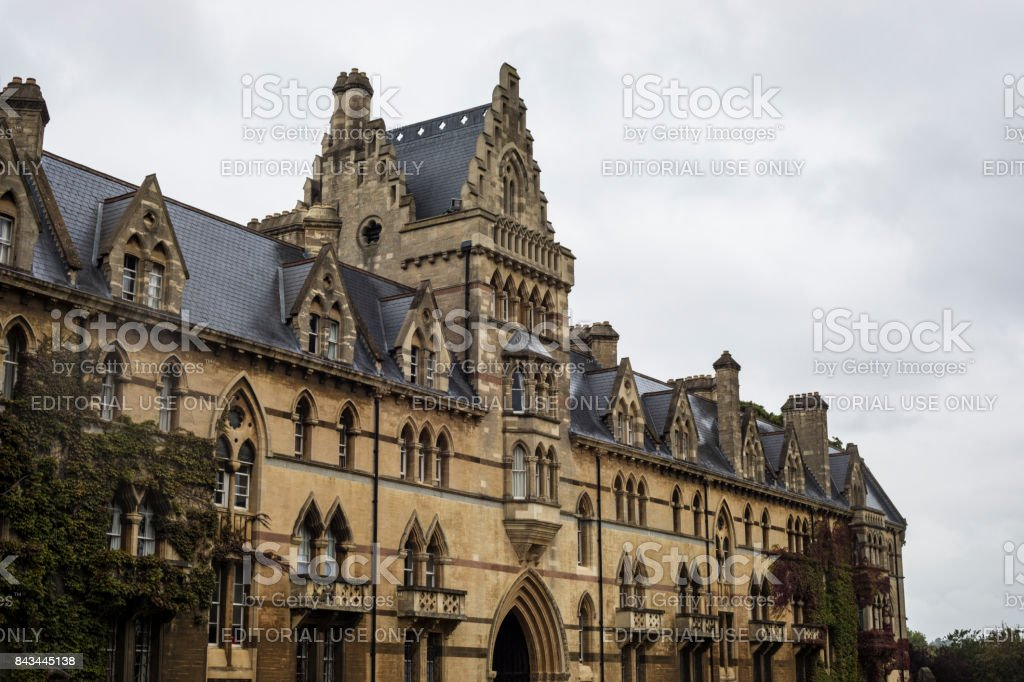Christ Church Cathedral in Oxford stock photo