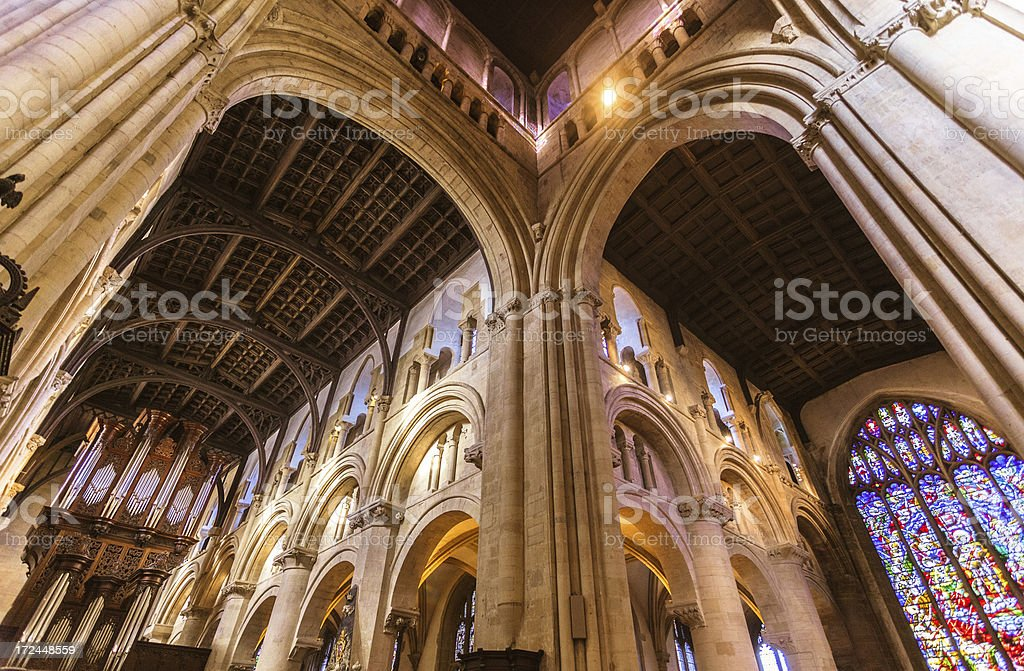 Christ Church Cathedral in Oxford, United Kingdom royalty-free stock photo