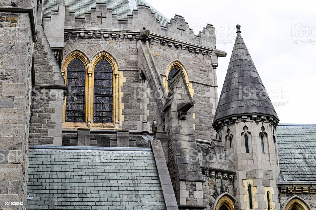 Christ Church Cathedral (detail) stock photo