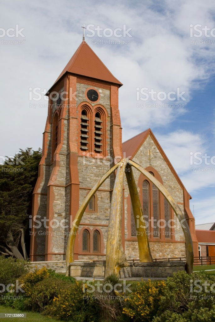 Christ Church Cathedral, Stanley, Falkland Islands stock photo