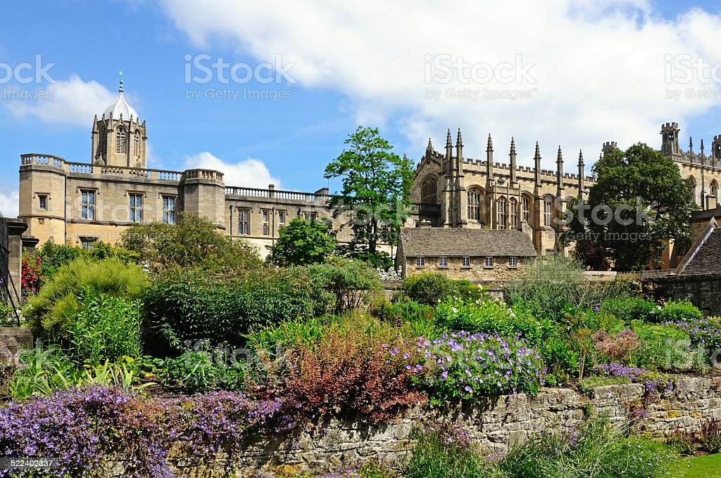 Christ Church College and Cathedral, Oxford. stock photo