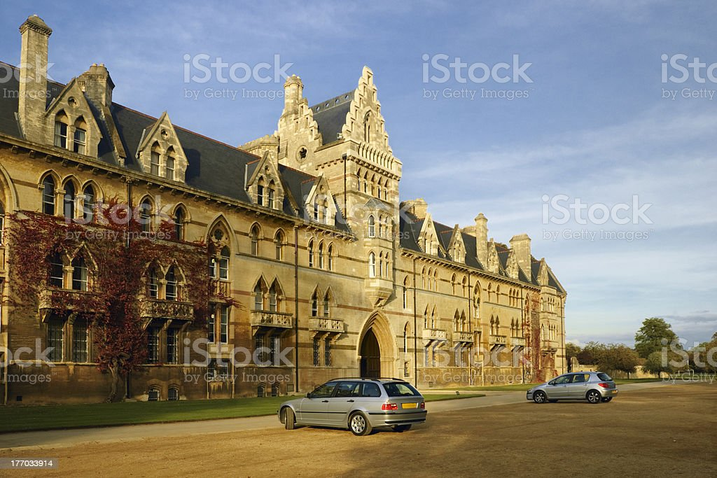 Christ Church College at the sunset stock photo