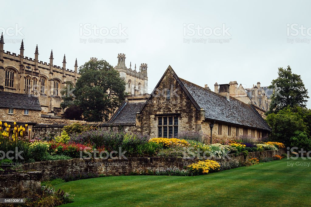 Christ Church College in Oxford stock photo
