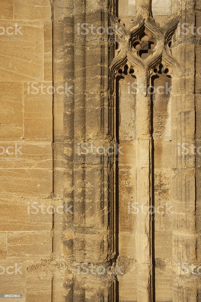 Christ Church College Wall Oxford royalty-free stock photo