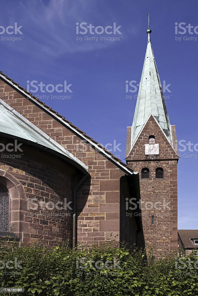 Christ Church Fuerstenberg stock photo