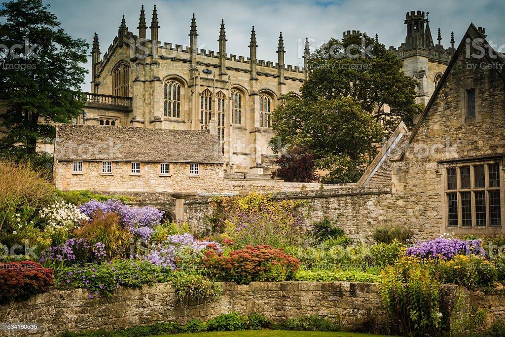 Christ Church Garden, Oxford UK stock photo