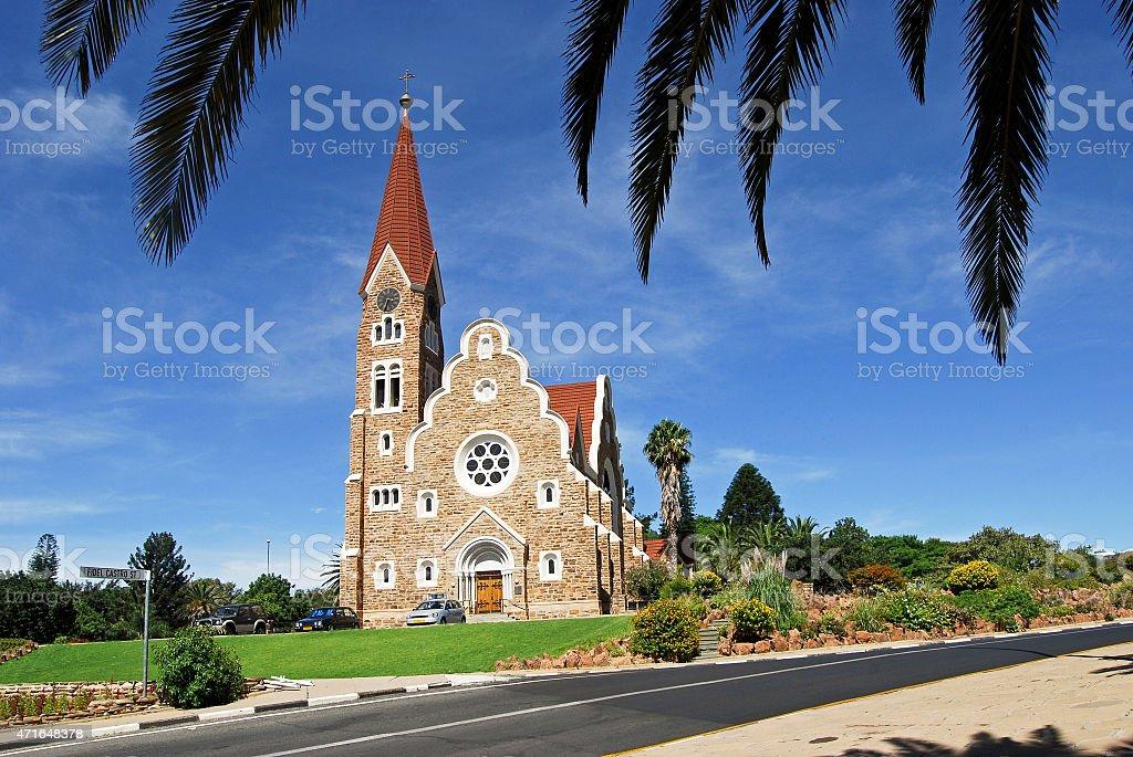 Christ Church - Historic landmark in Windhoek, Namibia stock photo