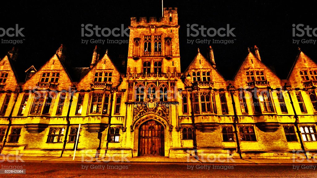 Christ church in Oxford city, UK stock photo