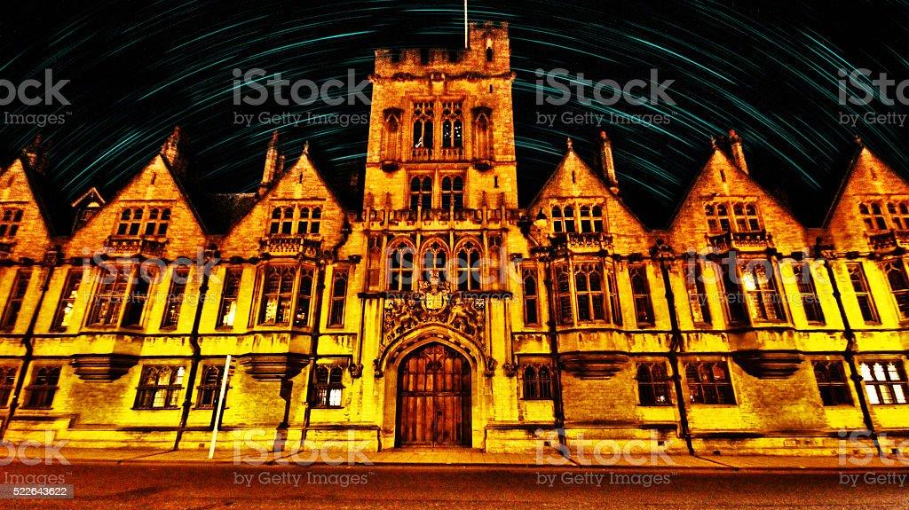Christ church in Oxford city, UK stock photo