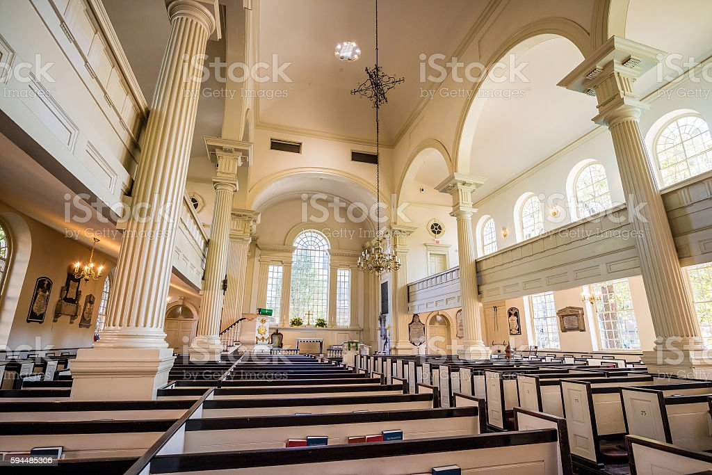 Christ Church in Philadelphia, Pennsylvania stock photo