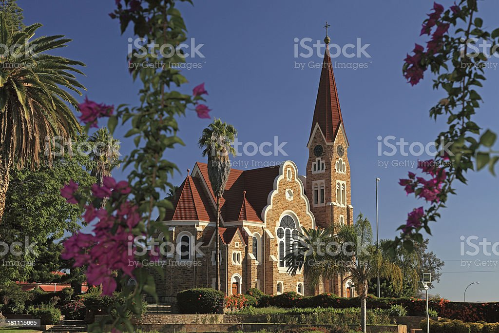 christ church in Windhoek stock photo