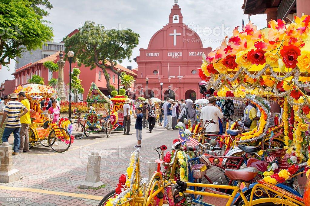 Christ Church Melaka in Malaysia royalty-free stock photo