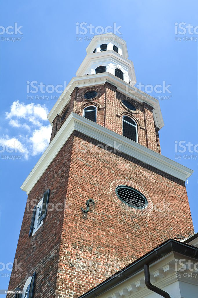 Christ Church Steeple, Old Town Alexandria VA, Georgian Style stock photo