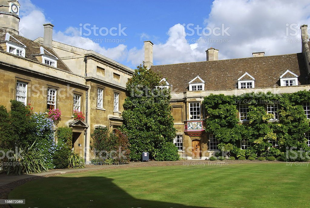 Christ College, Cambridge royalty-free stock photo