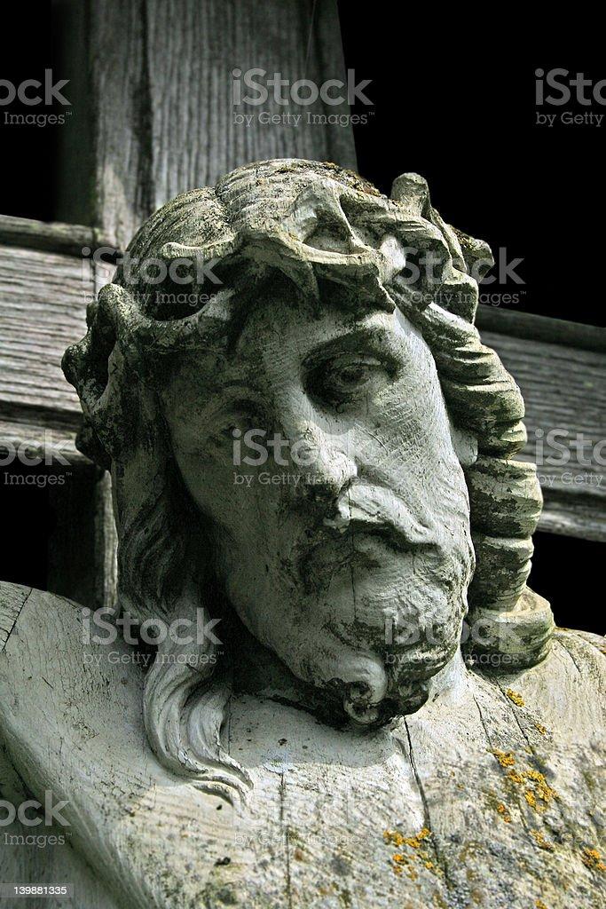 Christ crucified close up stock photo