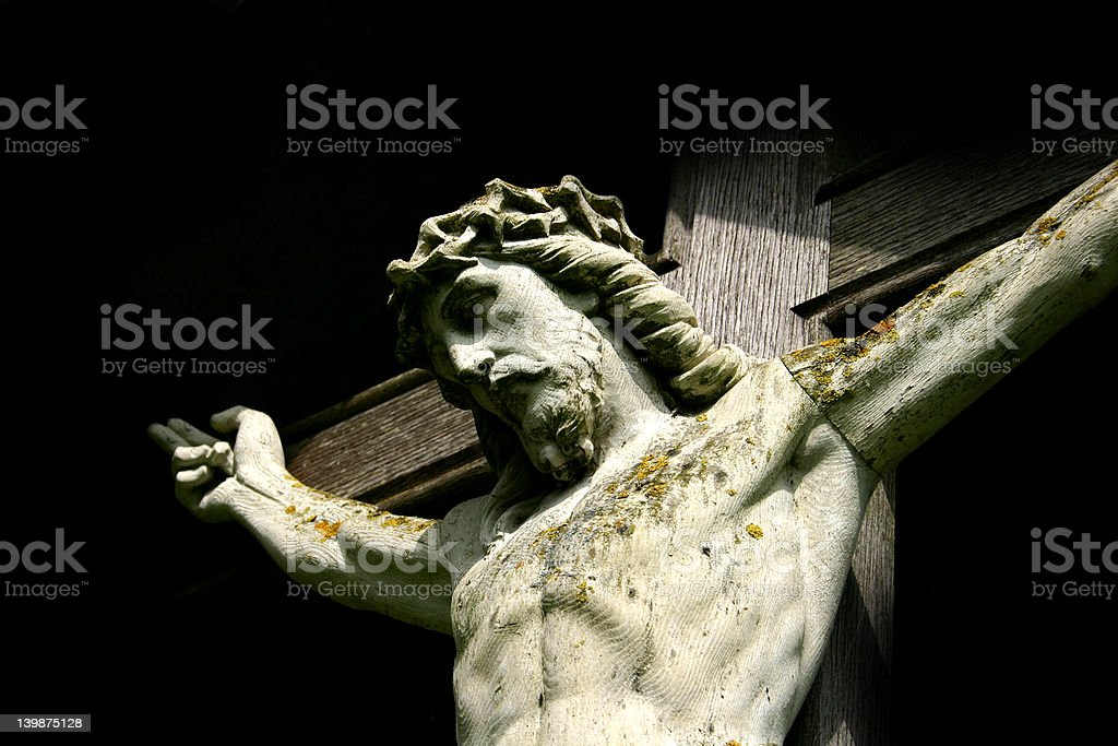 Christ crucified stock photo