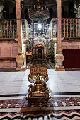 Christ crypt and Omphalos in Holy Sepulchre