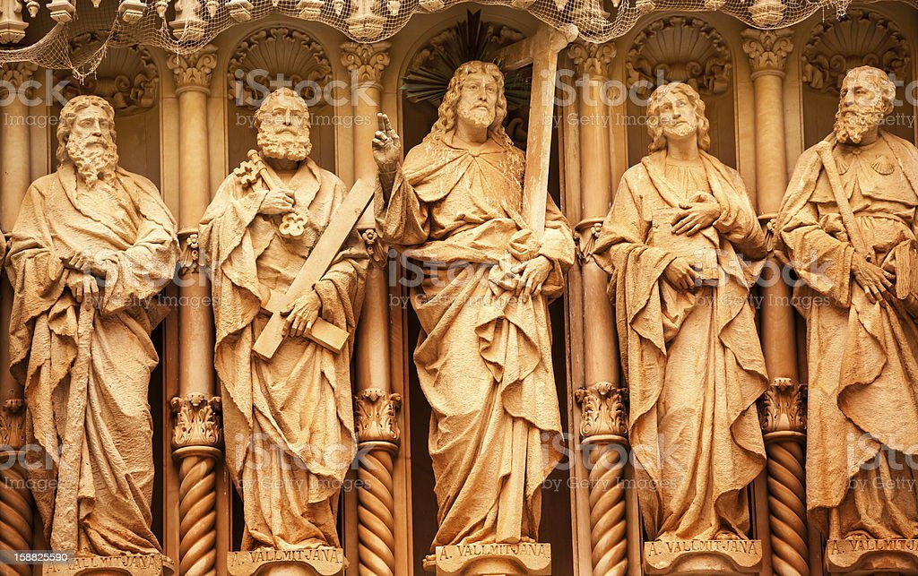 Christ Disciple Statues Monastery Montserrat Catalonia Spain royalty-free stock photo