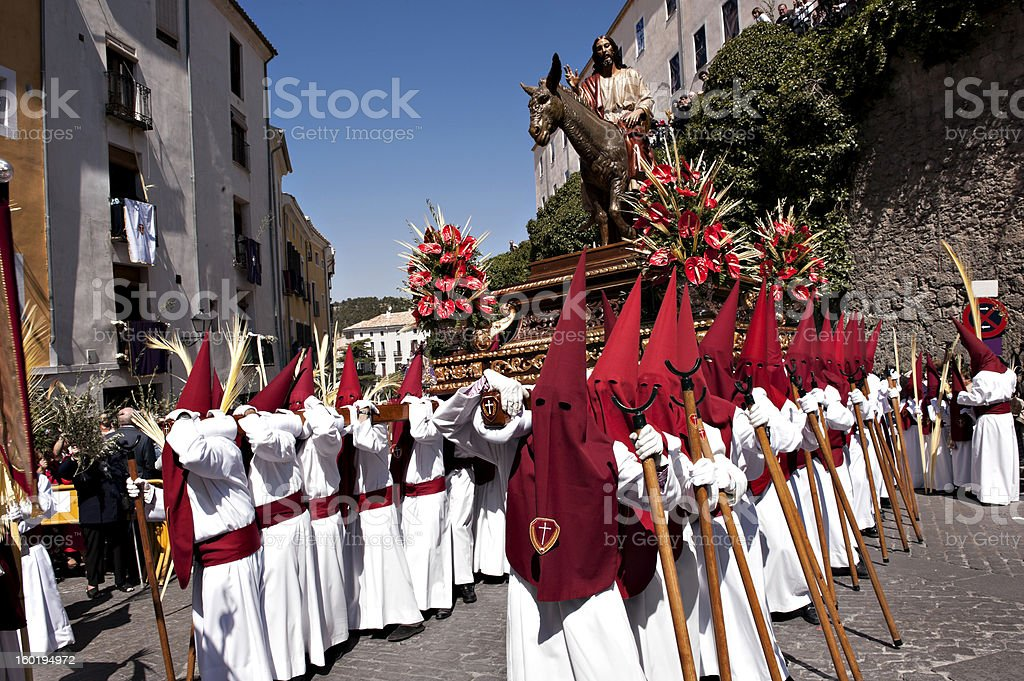 Christ. Easter Holy Week, Spain royalty-free stock photo