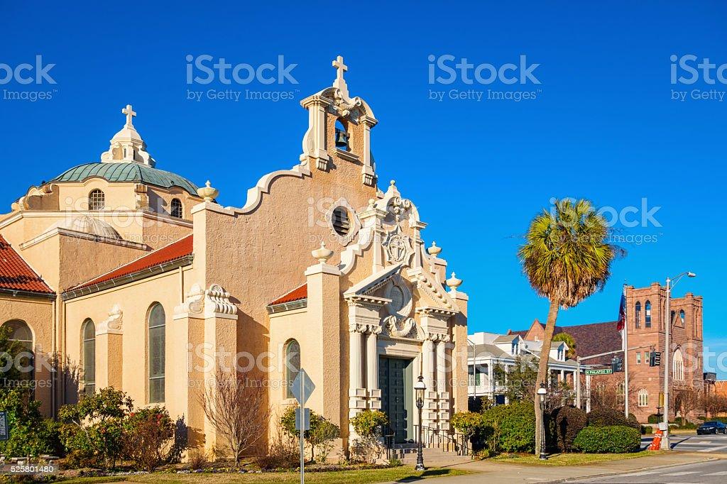 Christ Episcopal Church in Downtown Pensacola Florida USA stock photo