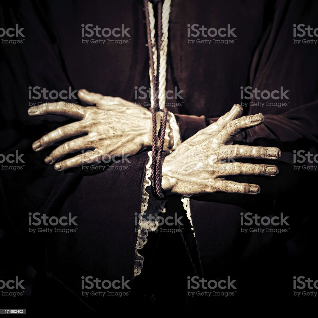 christ hands royalty-free stock photo