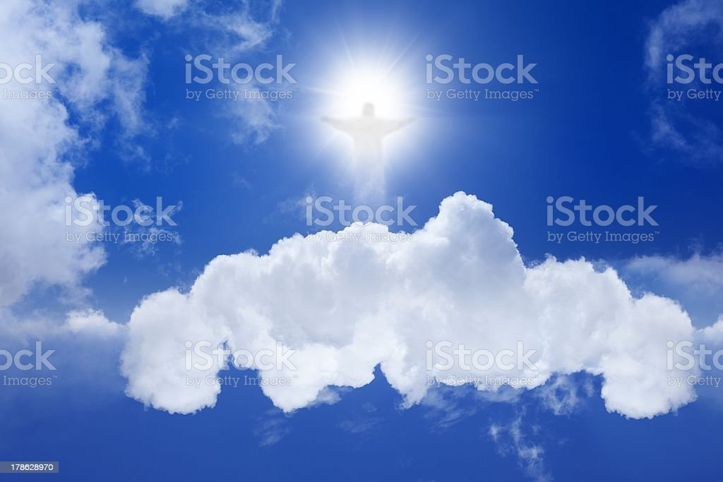 Christ in sky royalty-free stock photo