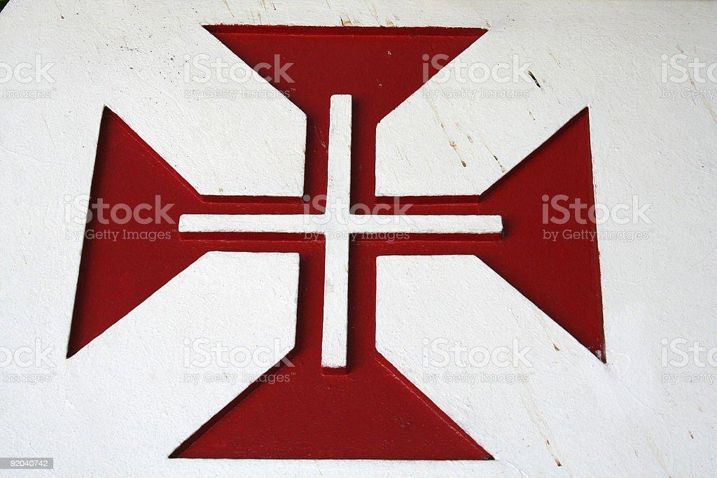 Christ Knights' Order cross stock photo