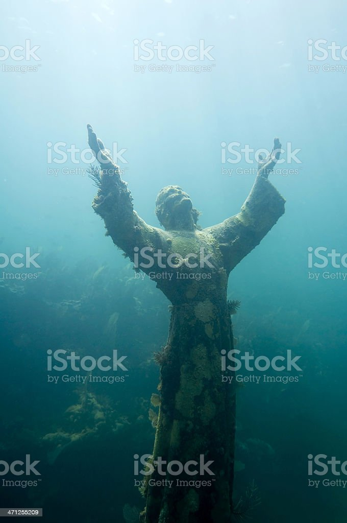 Christ of the abyss stock photo
