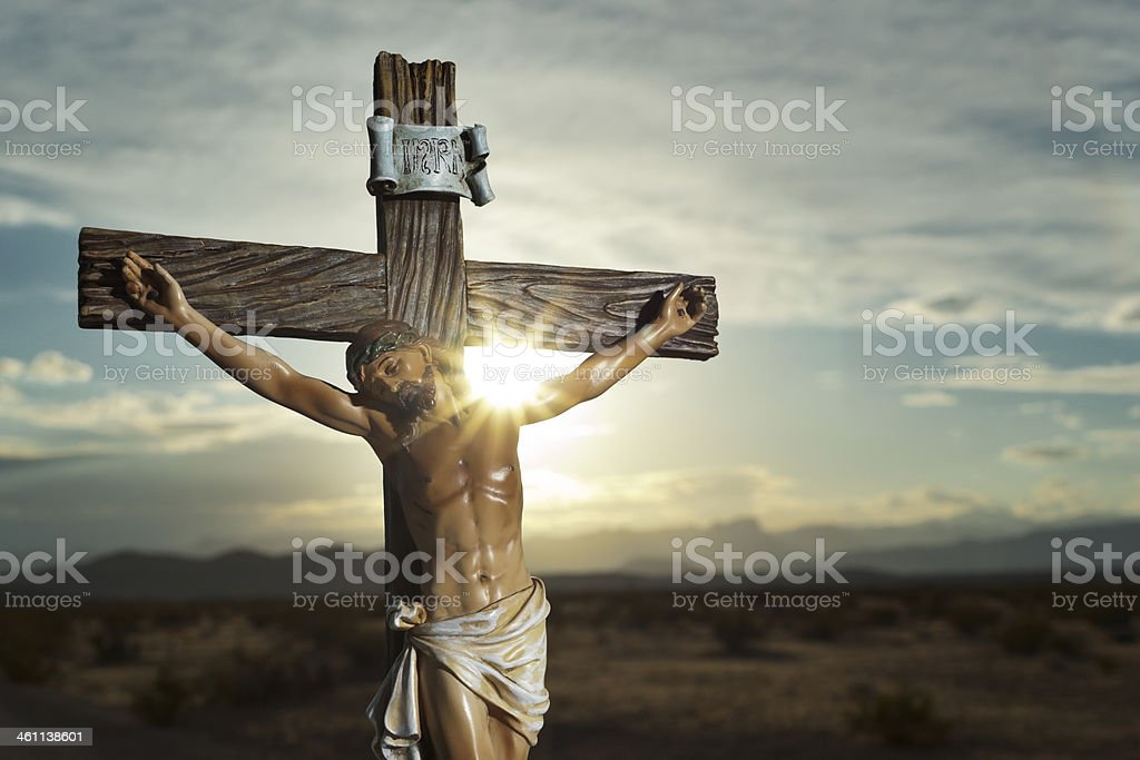Christ on the Cross stock photo