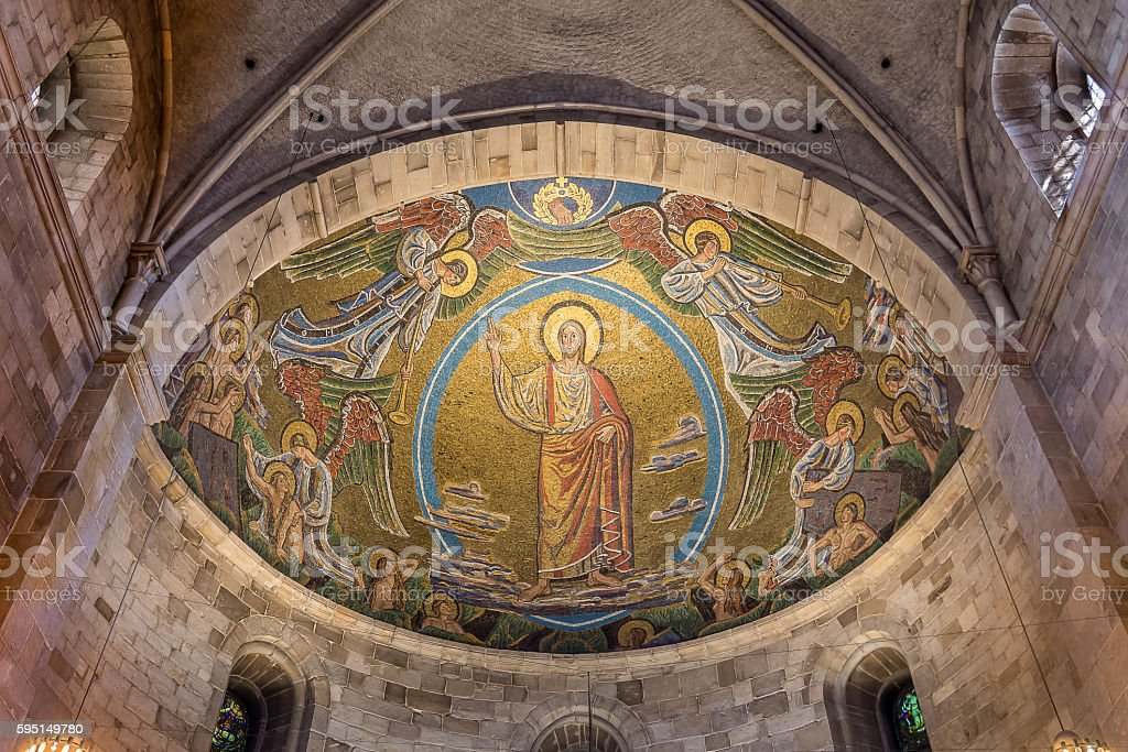 Christ on the skys of heaven stock photo