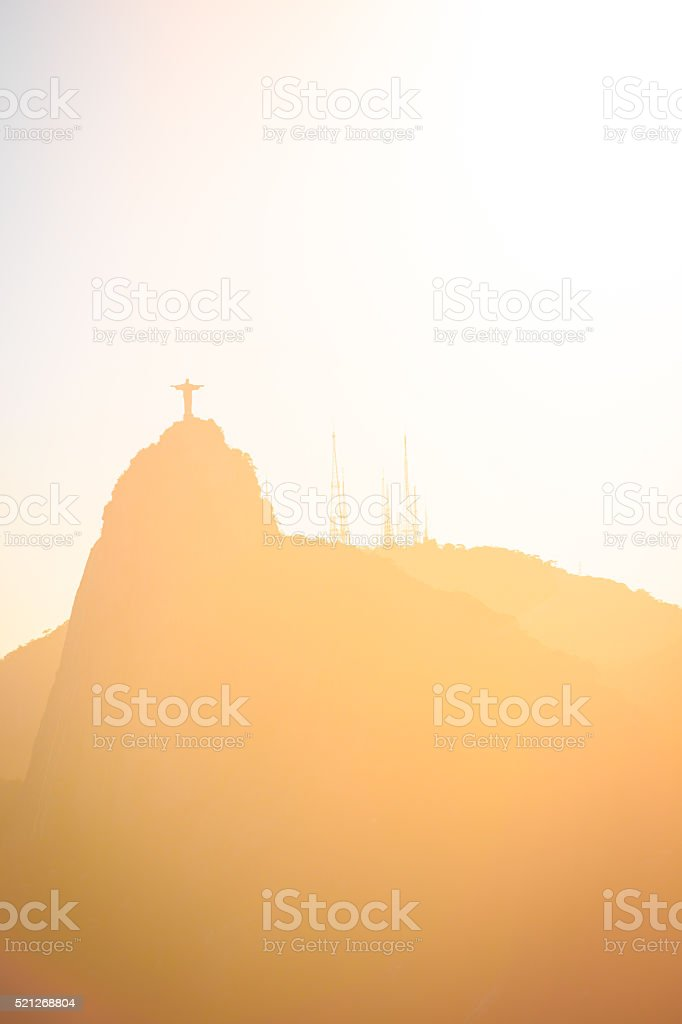 Christ Redeemer statue abstract shot stock photo