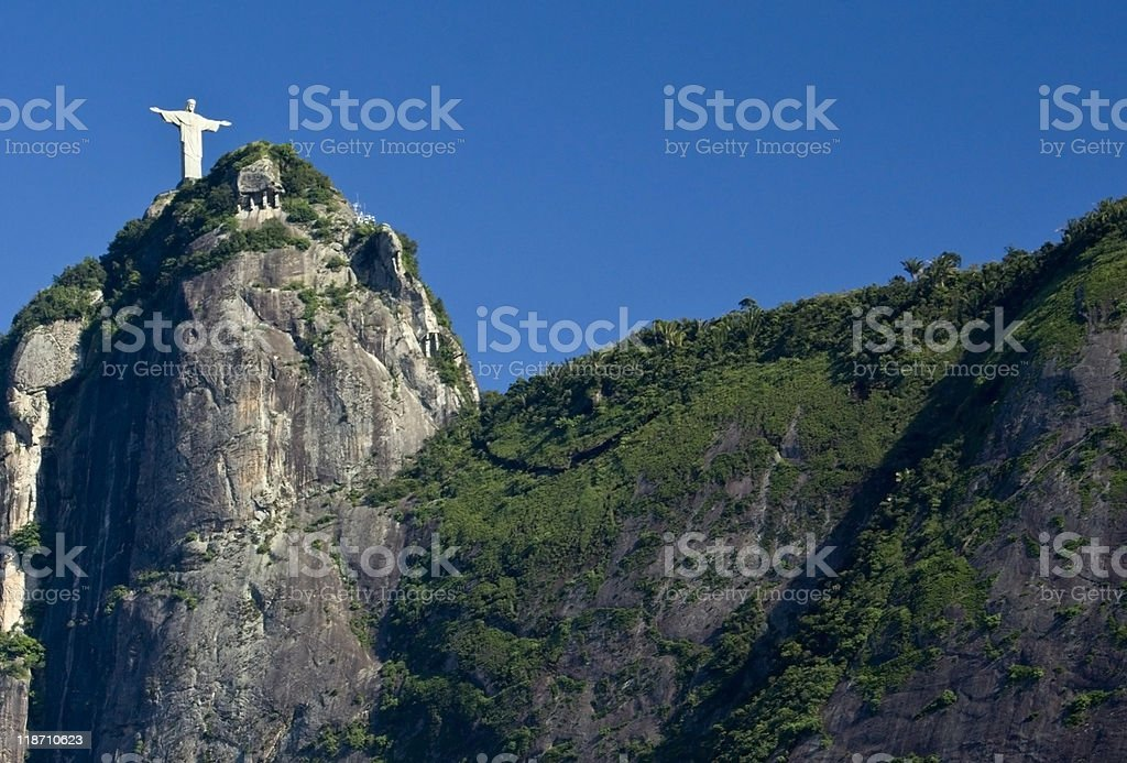 Christ the Redeemer and Corcovado Mountain royalty-free stock photo