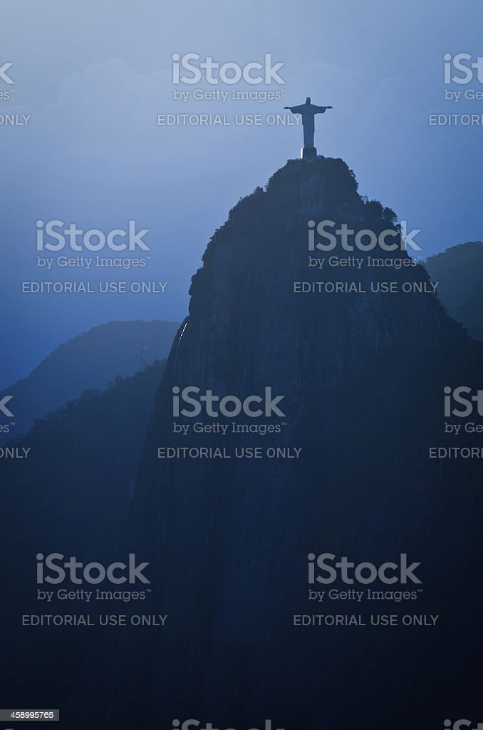 Christ the Redeemer Statue at Dusk royalty-free stock photo