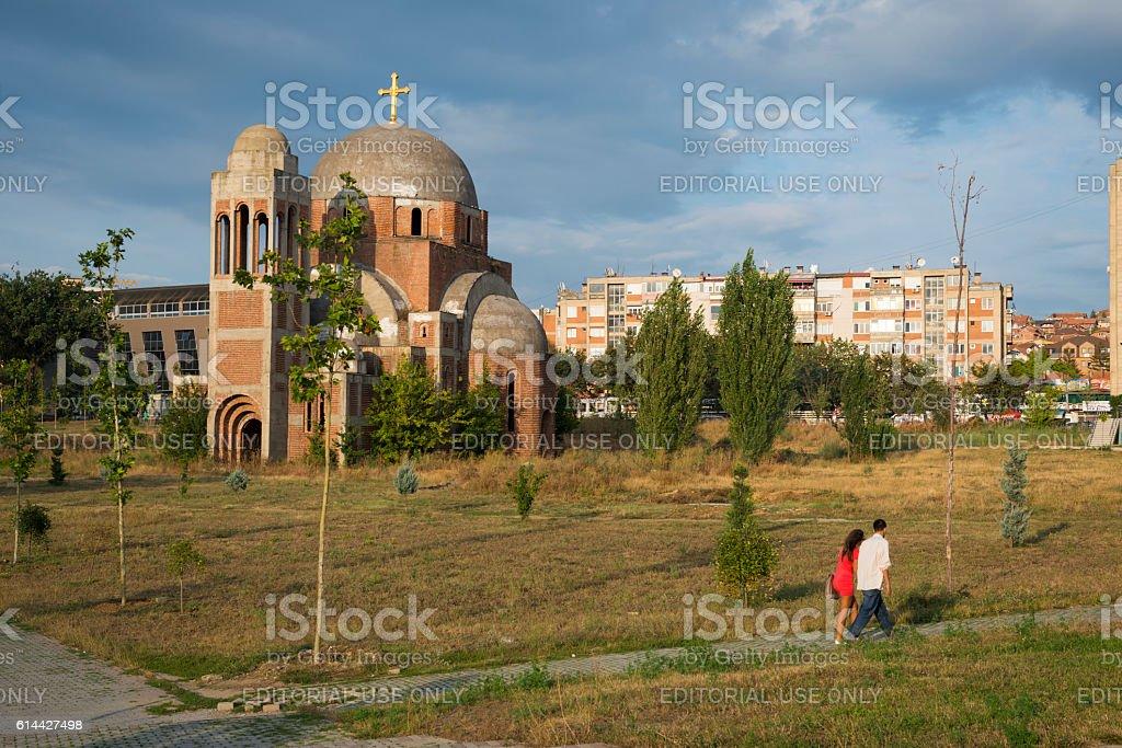 Christ the Saviour Cathedral in Pristina, Kosovo stock photo