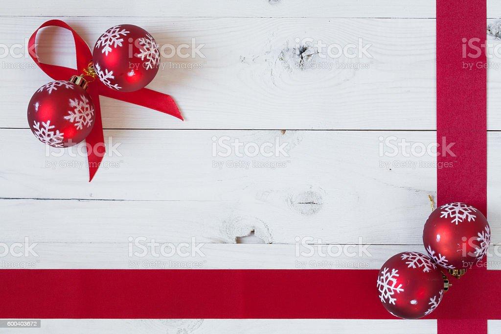 Christamas Balls and a Ribbon foto de stock libre de derechos