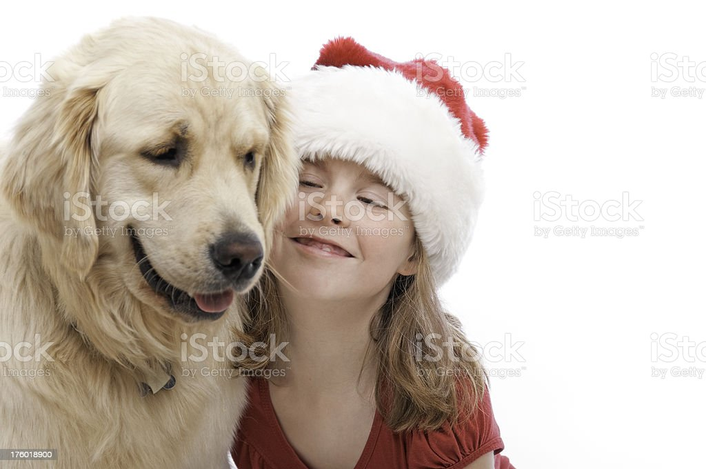 Christams Puppy Love royalty-free stock photo
