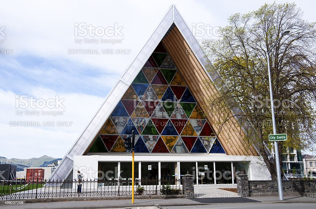 Christchurch Cardboard Cathedral stock photo