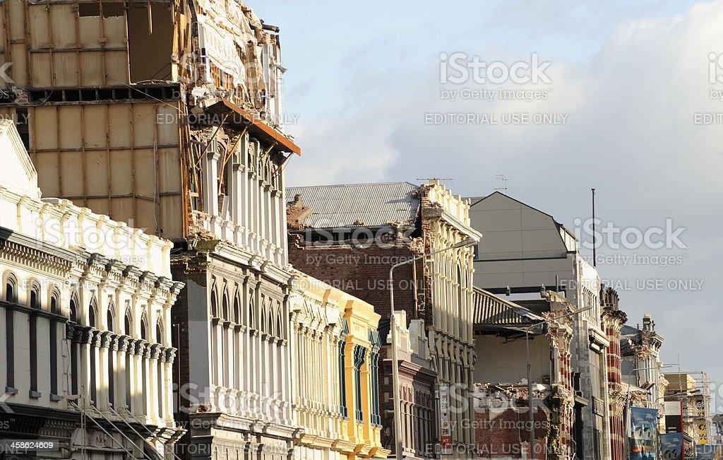 Christchurch CBD Earthquake Damage stock photo