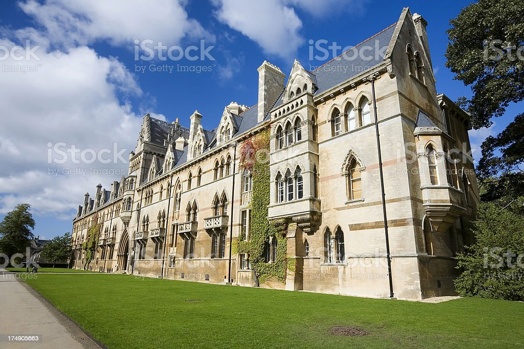 Christchurch College, Oxford University royalty-free stock photo