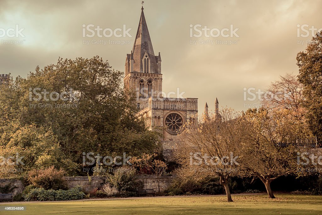 Christchurch college stock photo