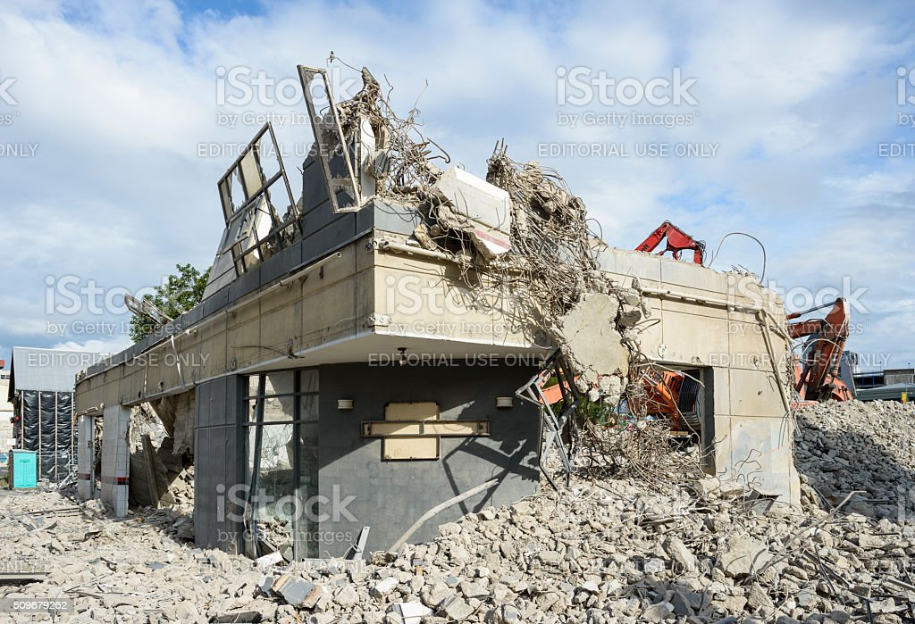 Christchurch, Demolition, Rebuilding stock photo