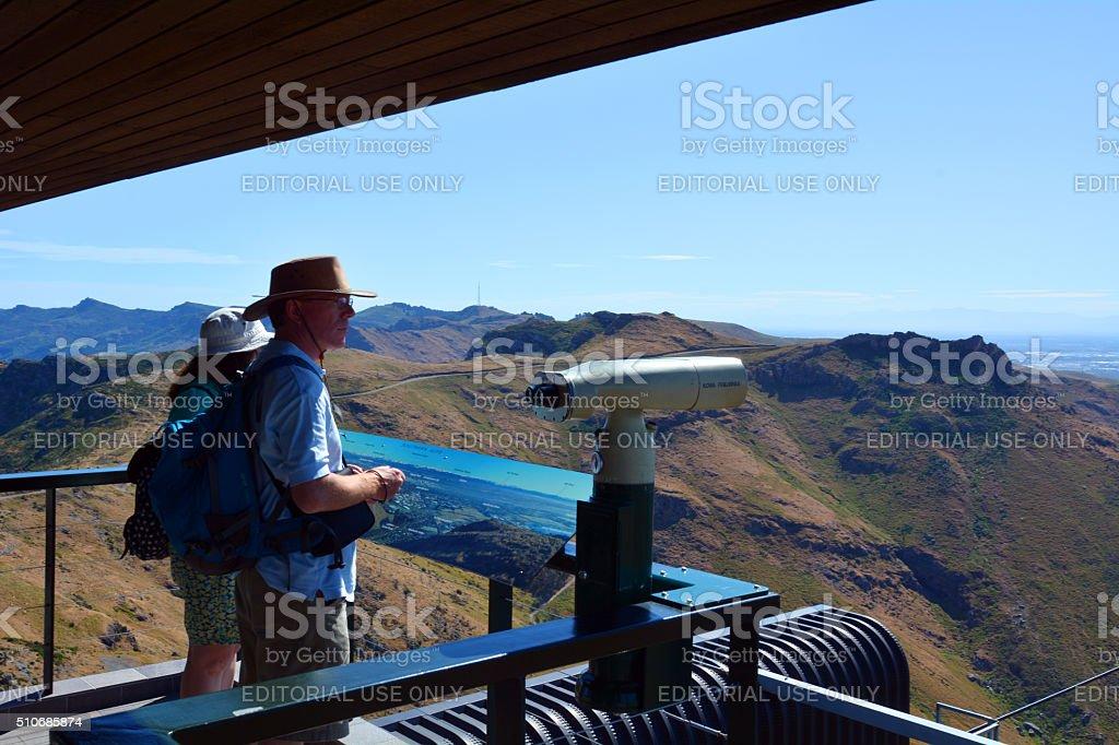 Christchurch Gondola - New Zealand stock photo