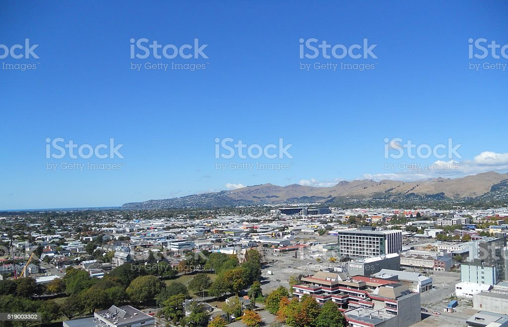 Christchurch New Zealand stock photo