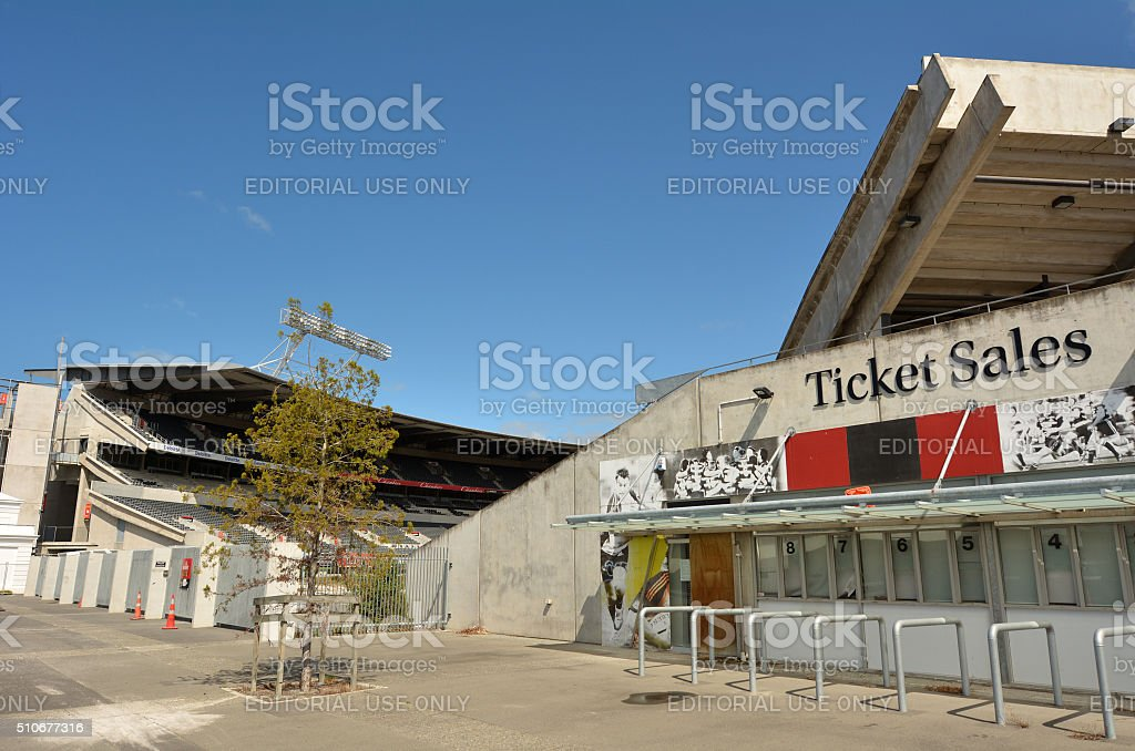 Christchurch Rugby League Park - New Zealand stock photo