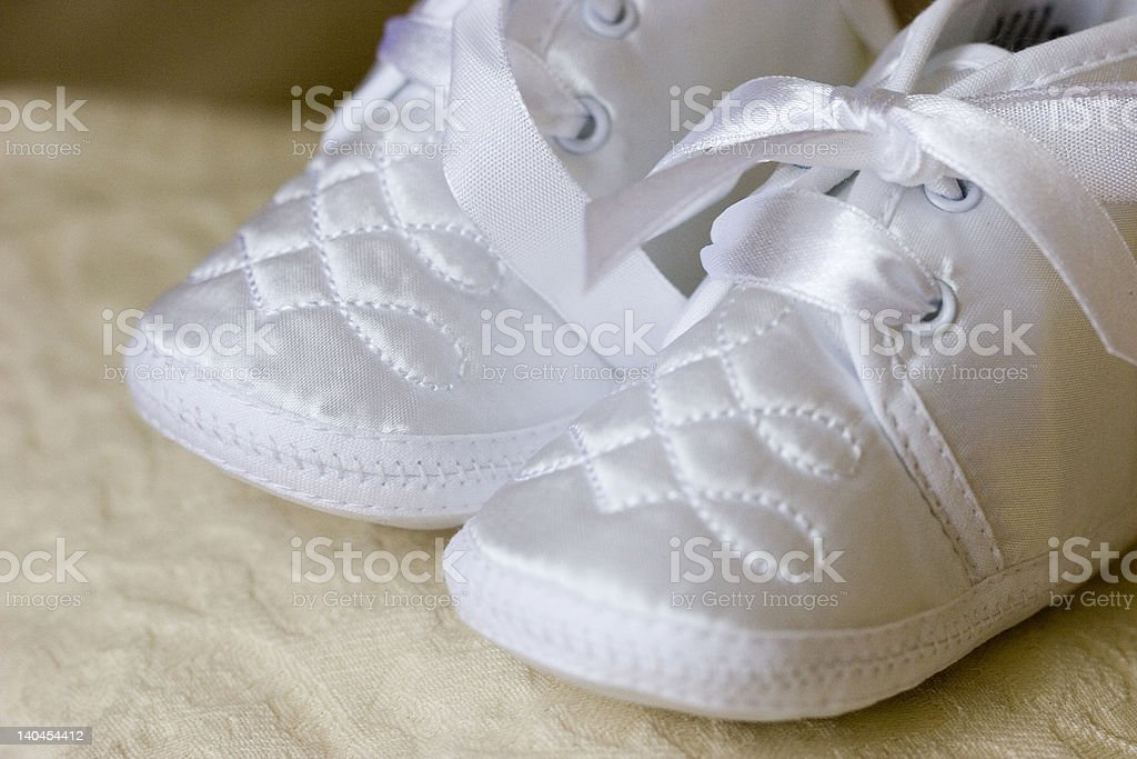 Christening Shoes royalty-free stock photo