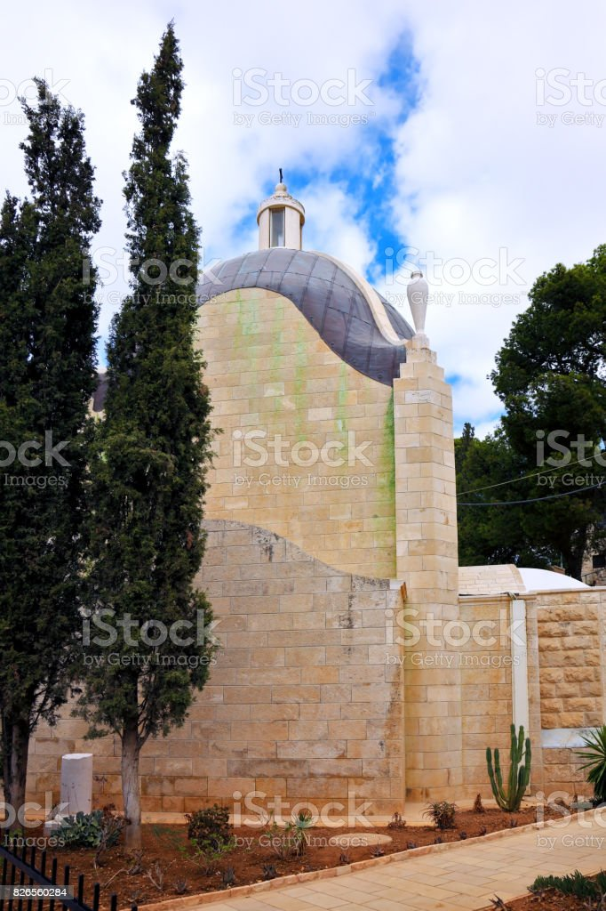 Christian chapel on Mount of Olives stock photo